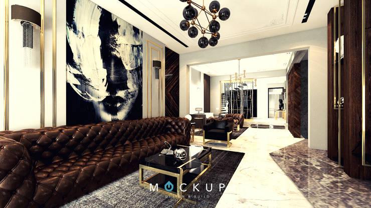 التجمع الاول – القاهرة الجديدة:  غرفة المعيشة تنفيذ  Mockup studio