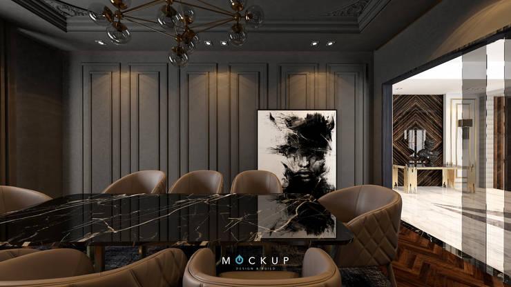 التجمع الاول – القاهرة الجديدة:  غرفة السفرة تنفيذ  Mockup studio
