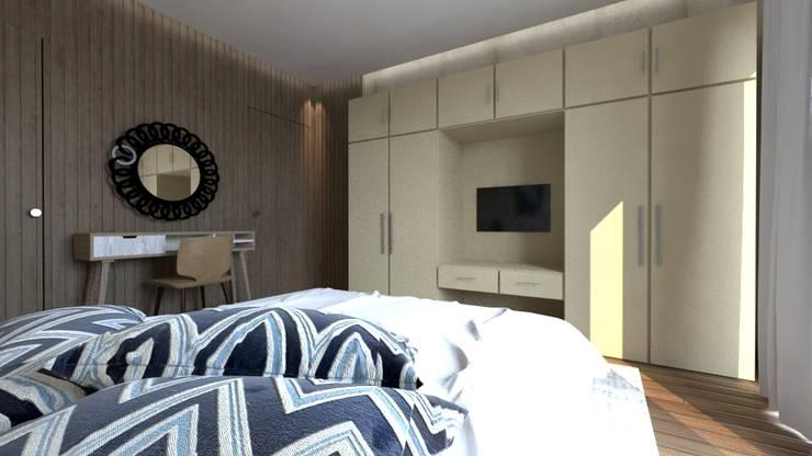 التجمع الاول – القاهرة الجديدة:  غرفة نوم تنفيذ  Mockup studio