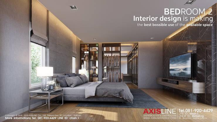 ออกแบบตกแต่งภายในห้องนอน 2 (Bedroom2):  ตกแต่งภายใน by บริษัทแอคซิสลาย จำกัด