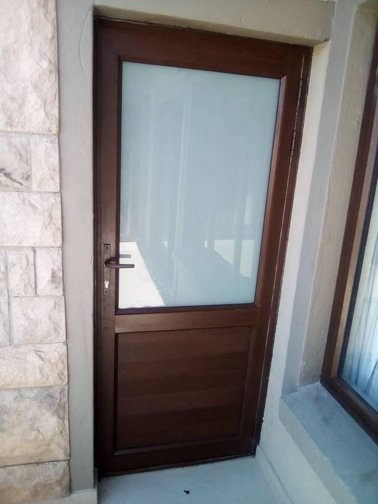 SINGLE DOOR AFTER:   by ALUWOOD WINDOWS AND DOORS,
