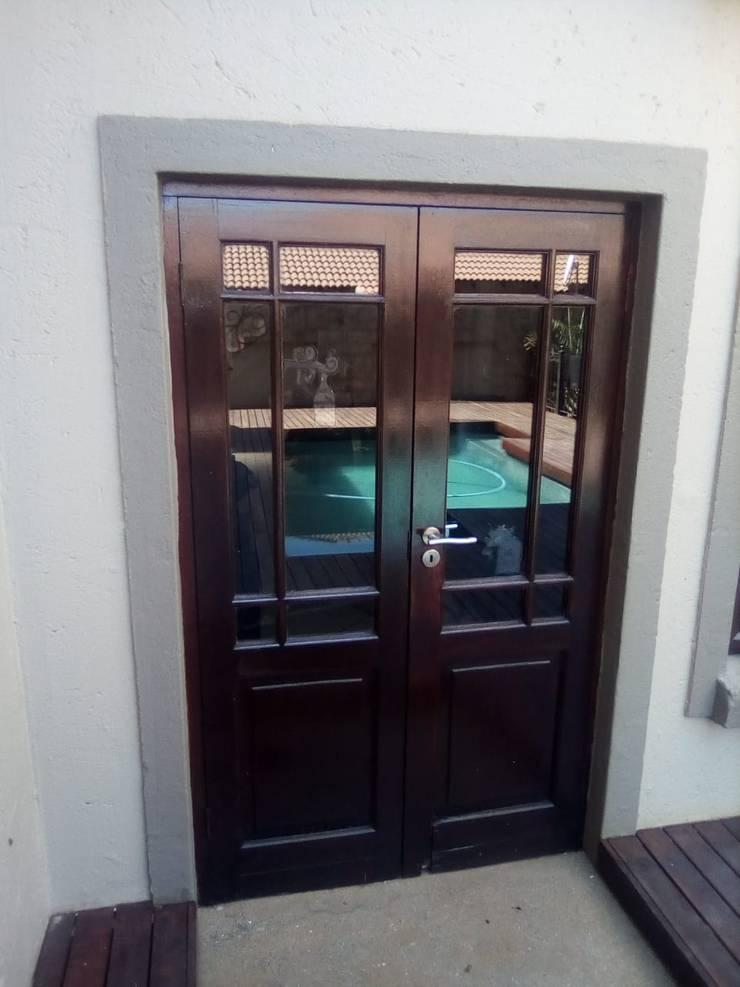 DOUBLE DOOR BEFORE:   by ALUWOOD WINDOWS AND DOORS,