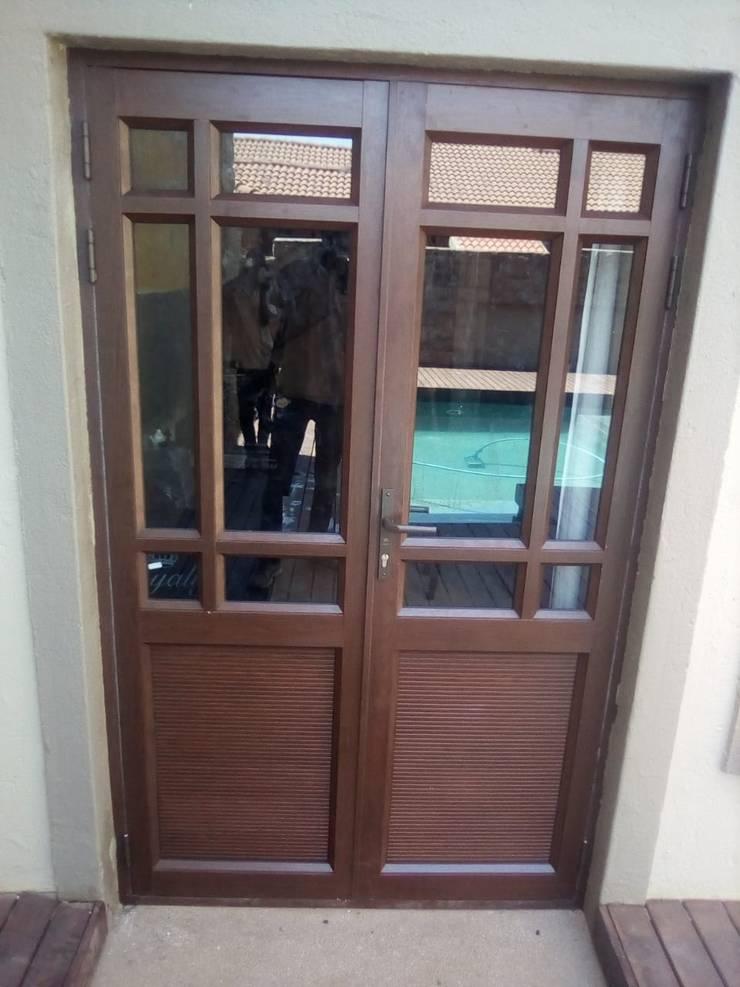 DOUBLE DOOR AFTER:   by ALUWOOD WINDOWS AND DOORS,