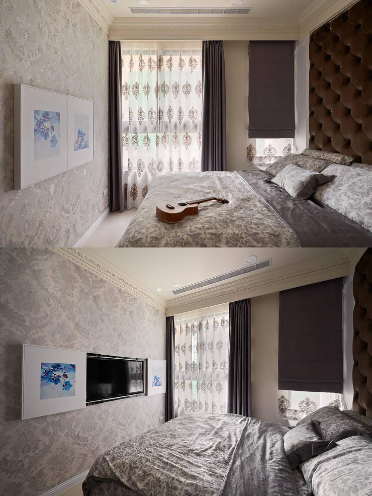 Q:風水、電視、臥室?:  臥室 by 趙玲室內設計