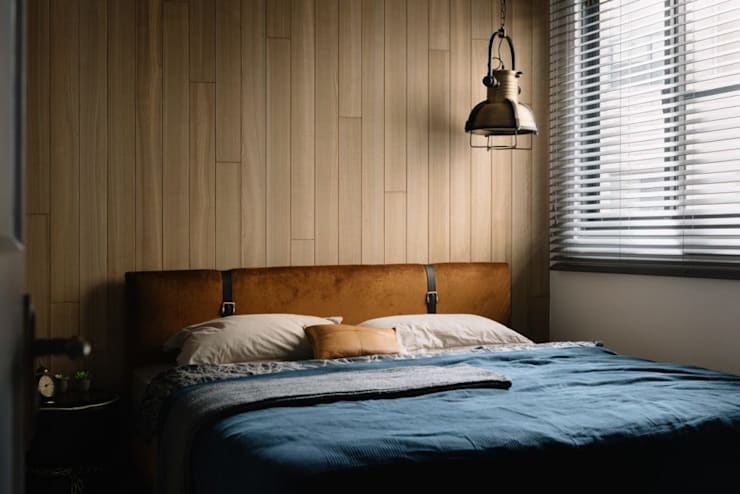 家,就是最真實的美好-百葉簾.蜂巢簾:  臥室 by MSBT 幔室布緹