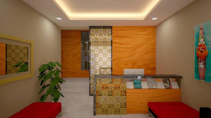 Ruang Resepsionis:  Ruang Kerja by Vaastu Arsitektur Studio