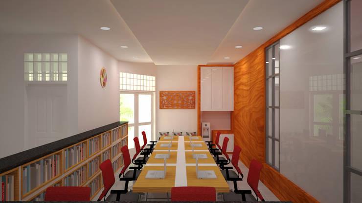 Ruang Peneliti Junior:  Ruang Kerja by Vaastu Arsitektur Studio