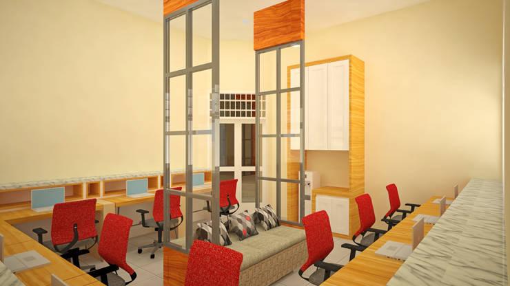 Ruang Peneliti Senior:  Ruang Kerja by Vaastu Arsitektur Studio