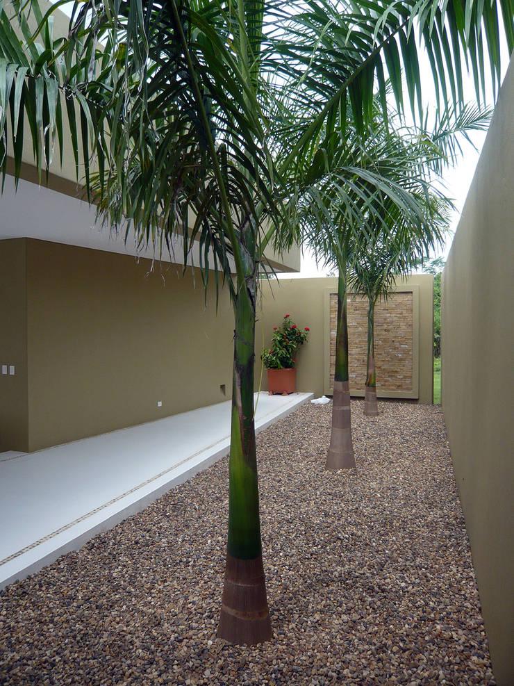 CASA MESA DE YEGUAS V-40: Pasillos y vestíbulos de estilo  por NOAH Proyectos SAS, Tropical Concreto