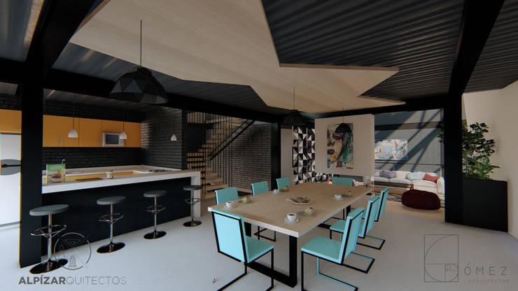 AMBIGUO: Cocinas equipadas de estilo  por GóMEZ arquitectos