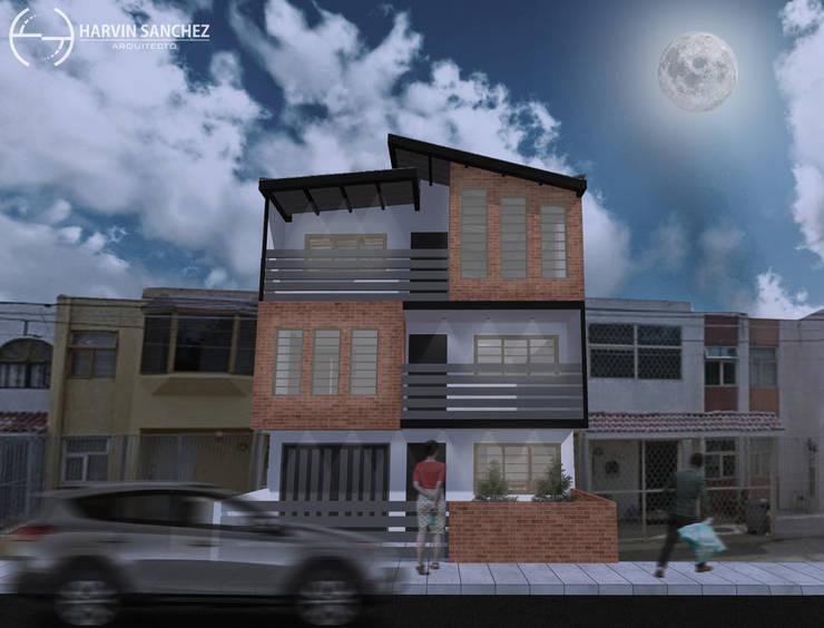 Vivienda de 3 pisos independientes de Arquitecto Harvin Sanchez Areniz Moderno