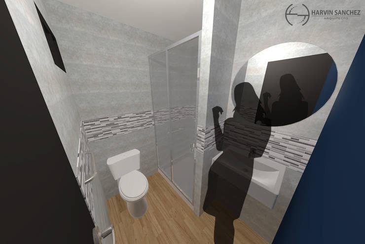 Vivienda de 3 pisos independientes Baños de estilo moderno de Arquitecto Harvin Sanchez Areniz Moderno