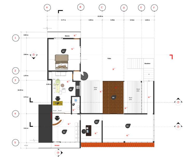 Casa Quialana: Casas de campo de estilo  por Variable