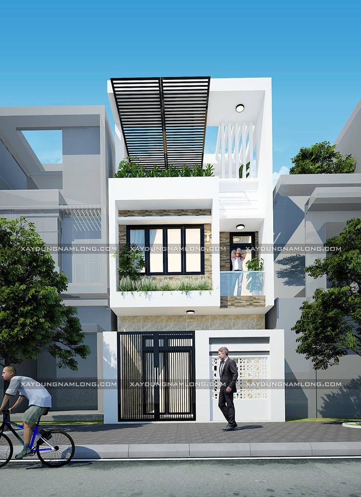 Thiết kế nhà ống diện tích 5x16m:   by Công ty cổ phần tư vấn kiến trúc xây dựng Nam Long