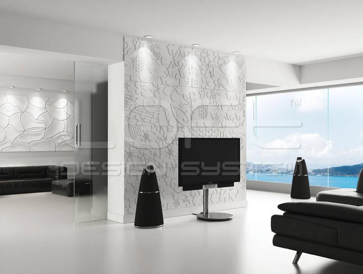 Гостиная в . Автор – Loft Design System Deutschland - Wandpaneele aus Bayern, Модерн Бетон