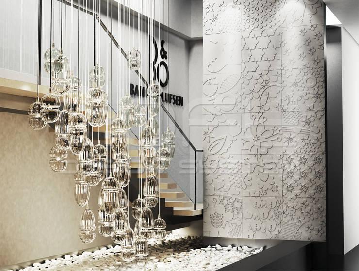 Tерраса в . Автор – Loft Design System Deutschland - Wandpaneele aus Bayern, Модерн Бетон