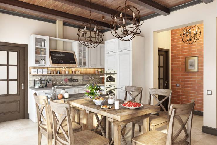 Country Loft: Кухни в . Автор – Zibellino.Design, Кантри
