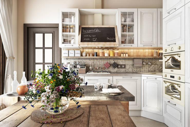 Country Loft: Кухонные блоки в . Автор – Zibellino.Design, Кантри