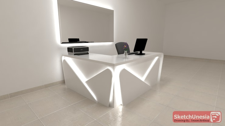 Meja resepsionis:  Office spaces & stores  by Sweethome.co.id