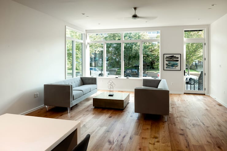 Kenyon St: modern Media room by KUBE Architecture