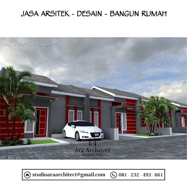 Desian Perumahan Bapak Tarman Mojokerto:   by Ara Architect Studio