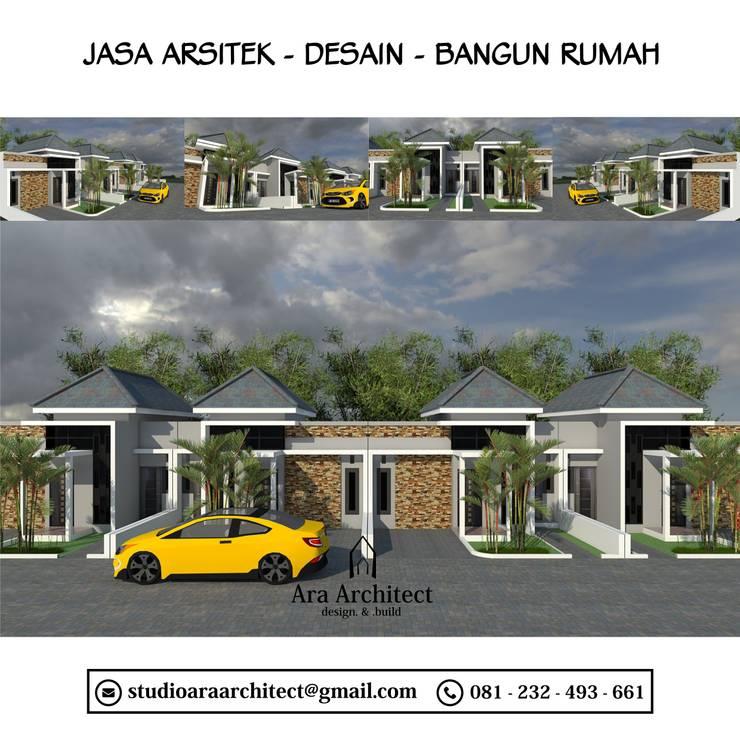 Desain Perumahan Bapak Tarman Tipe 40 Mojokerto:   by Ara Architect Studio