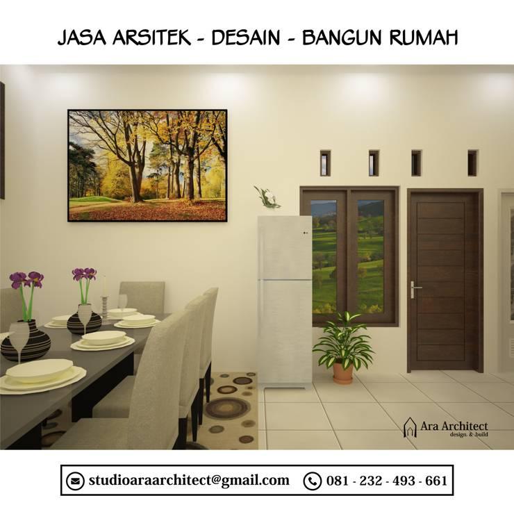Desain Interior Dapur dan Ruang Makan Bapak Junaedi Blitar:  Ruang Makan by Ara Architect Studio