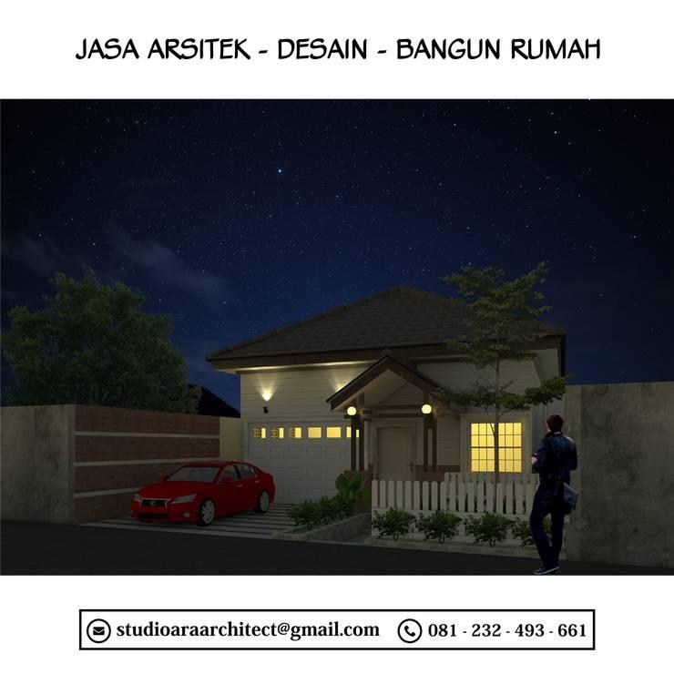 Desain Rumah Satu Lantai Dengan Gaya Modern Semi Klasik di Surabaya:   by Ara Architect Studio