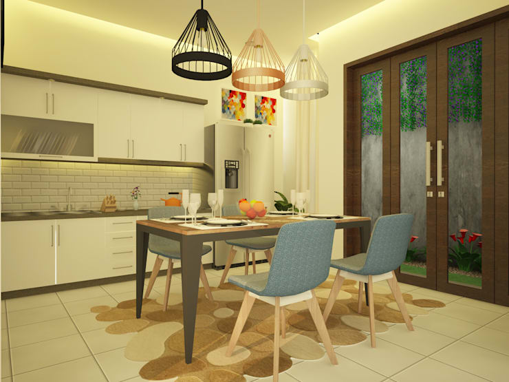 Desain Interior Dapur dan Ruang Makan Bapak Fauzi Di Tangerang:  Dapur by Ara Architect Studio