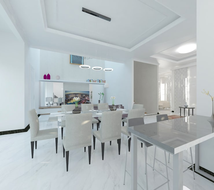 Dapur dan Ruang Makan :  Ruang Makan by Atelier BAOU+