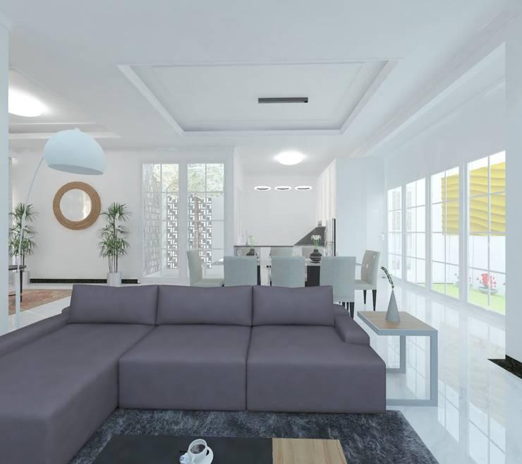 Ruang Keluarga:  Ruang Keluarga by Atelier BAOU+