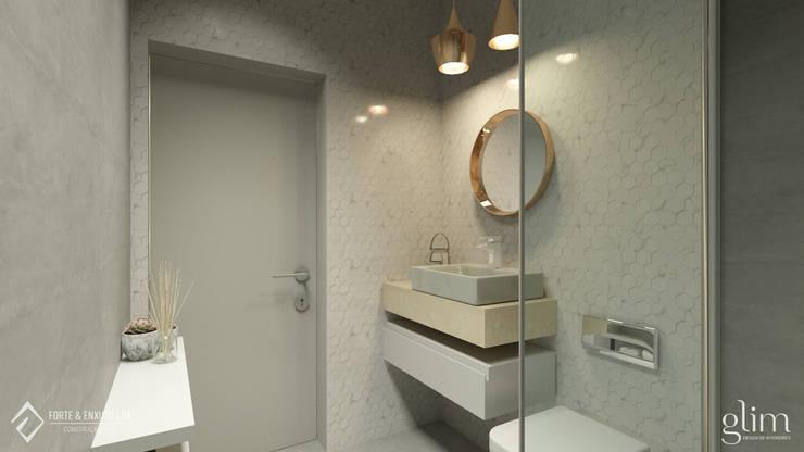 WC QUARTO: Casa de banho  por Glim - Design de Interiores