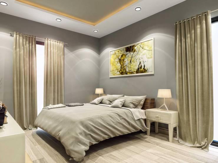 ANTE MİMARLIK  – Orkun E. Syphony Villa:  tarz Yatak Odası