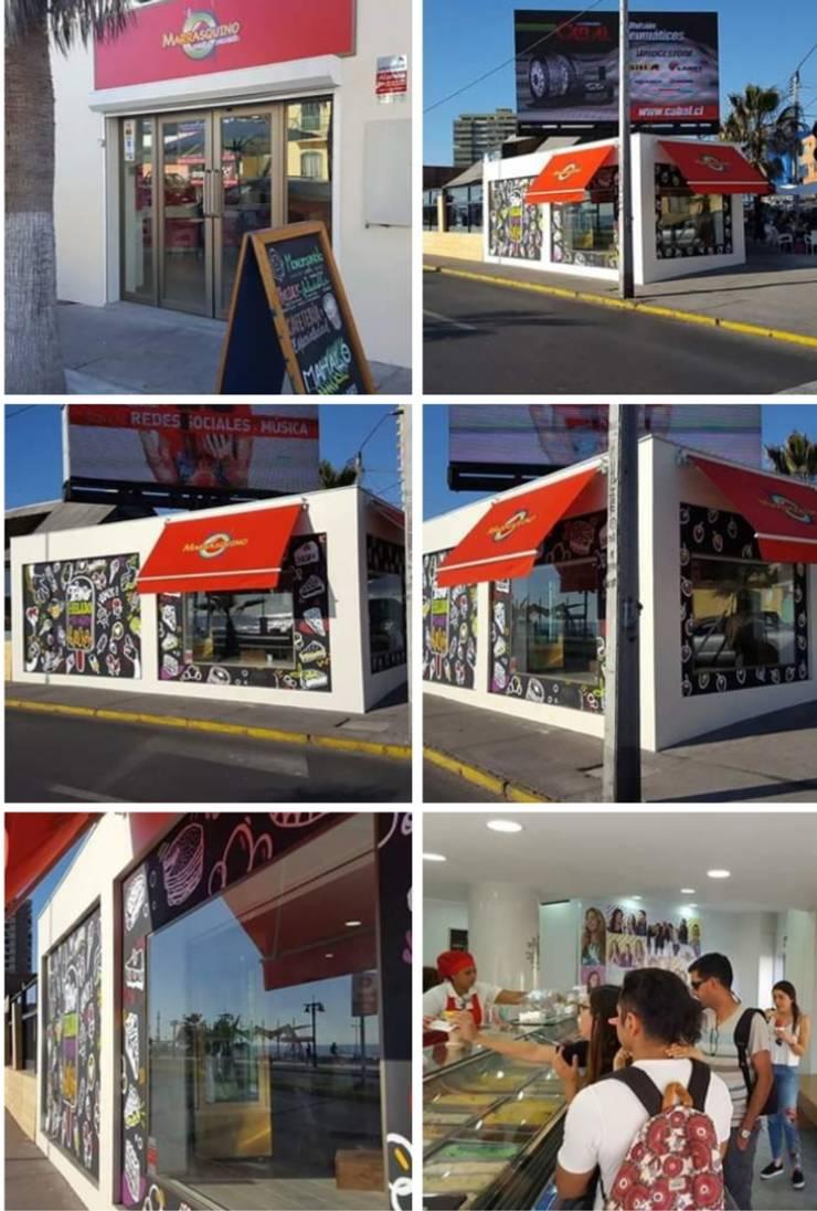 Heladería Marrasquino: Espacios comerciales de estilo  por Fullconstruccion SPA