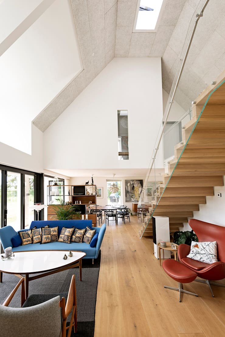 Living room by C.F. Møller Architects