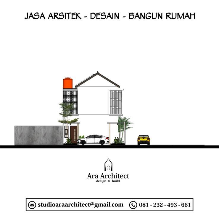 Desain Rumah Dua Lantai Bapak Yongki Di Bogor:   by Ara Architect Studio