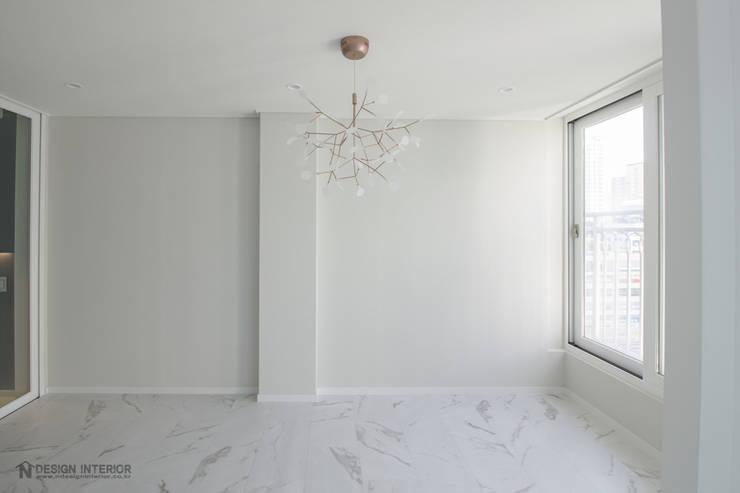 동탄인테리어 모던함이 묻어나는 삼부르네상스아파트 by.n디자인인테리어: N디자인 인테리어의  다이닝 룸,모던
