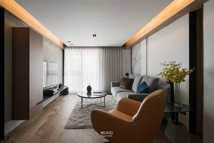 L宅_線。域:  客廳 by 沐禾設計事務所