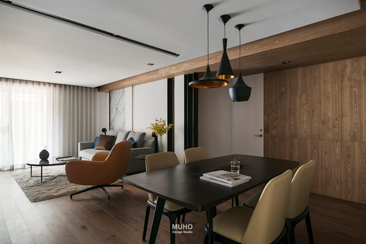 L宅_線。域:  餐廳 by 沐禾設計事務所