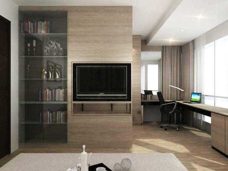 Apartment Senanyan:  Ruang Keluarga by iwan 3Darc