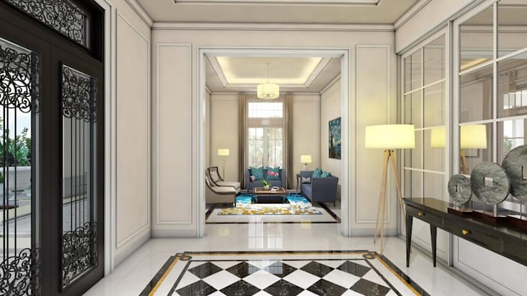 Rumah Darmo Brawijaya:  Koridor dan lorong by iwan 3Darc