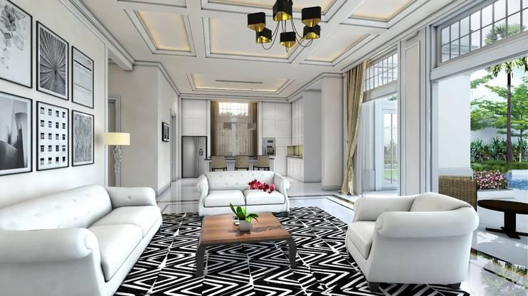 Rumah Darmo Brawijaya:  Ruang Keluarga by iwan 3Darc