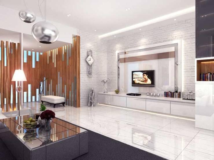 Rumah Tinggal Kemang:  Ruang Keluarga by iwan 3Darc
