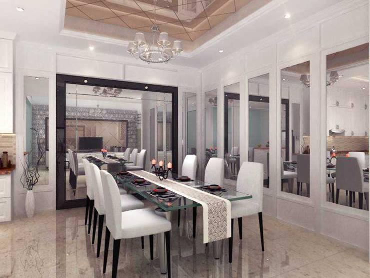 Rumah Tinggal PIK:  Ruang Makan by iwan 3Darc