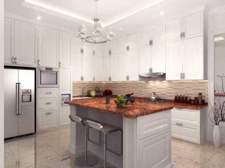 Rumah Tinggal PIK:  Dapur by iwan 3Darc