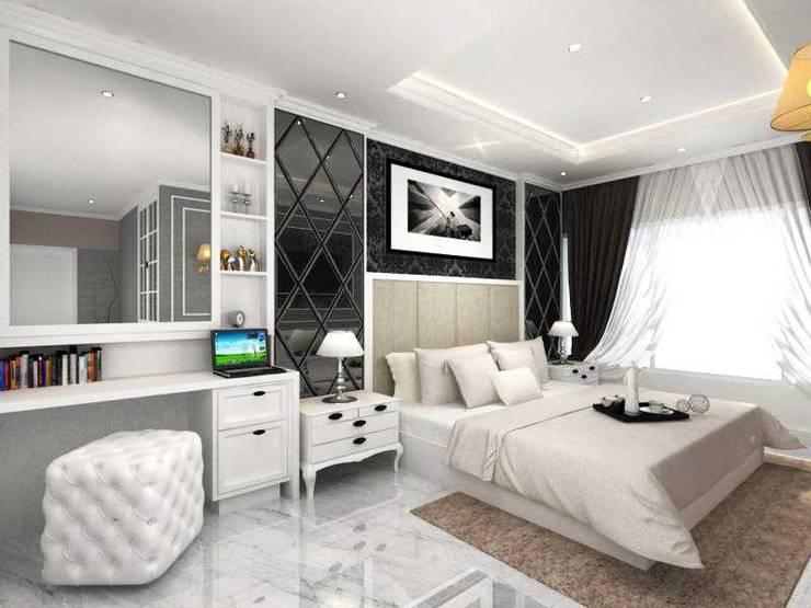 Rumah Tinggal PIK:  Kamar Tidur by iwan 3Darc