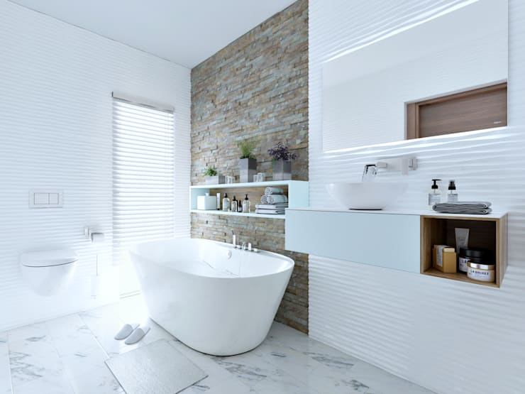 En-suite bathroom 3:   by Linken Designs