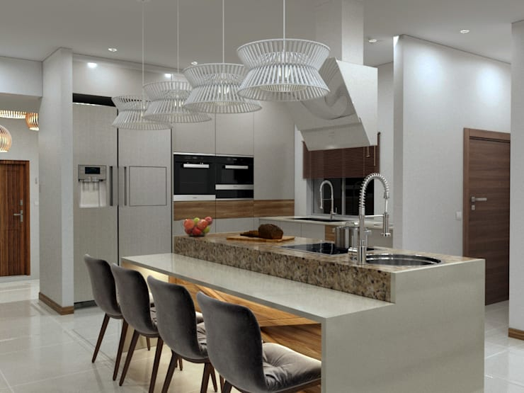 Kitchen area:   by Linken Designs