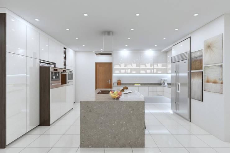 Kitchen view 1:   by Linken Designs