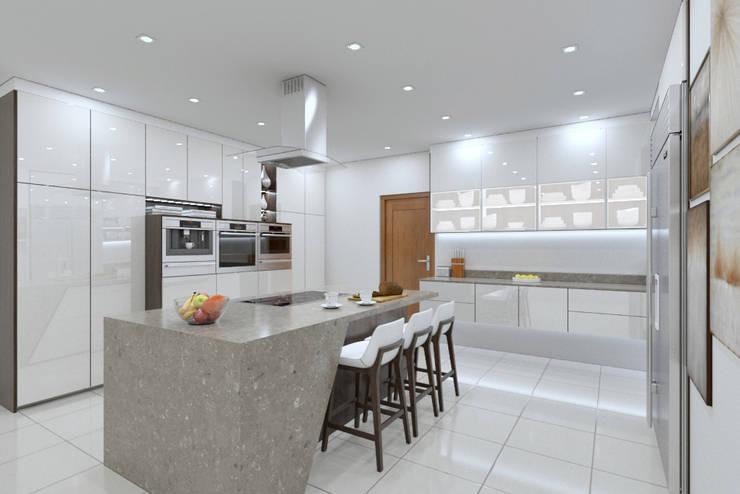 Kitchen view 2:   by Linken Designs